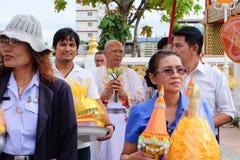 Ésta es ceremonia de la ordenación y cultura tailandesa Imagen de archivo