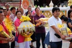 Ésta es ceremonia de la ordenación y cultura tailandesa Imágenes de archivo libres de regalías