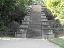 ÉSTA ES FORTALEZA HERMOSA DE LA ROCA DE LA IMAGEN YAPAHUWA DE SRI LANKA imagen de archivo