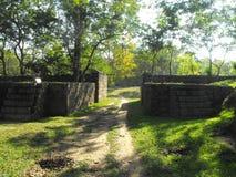 ÉSTA ES FORTALEZA HERMOSA DE LA ROCA DE LA IMAGEN YAPAHUWA DE SRI LANKA fotografía de archivo libre de regalías