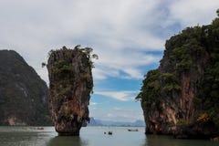 Ésta es isla de Jamebond Hay escenas en el Jamebond 007 movimientos Fotografía de archivo libre de regalías
