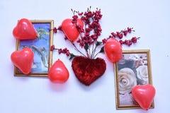Ésta es la foto del bastidor con los globos imágenes de archivo libres de regalías