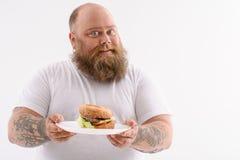 Ésta es mi hamburguesa preferida imagen de archivo