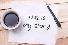 Ésta es mi historia, citas inspiradas de motivación imagenes de archivo