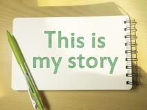Ésta es mi historia, citas inspiradas de motivación fotografía de archivo libre de regalías