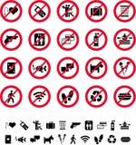 Muestras de la prohibición Foto de archivo libre de regalías