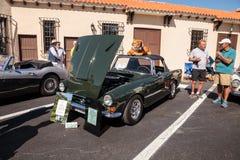 ?ste el rayo de sol 1966 del verde Tiger Mark 1A era el primero construido en el Car Show cl?sico del 32do dep?sito anual de N?po fotografía de archivo