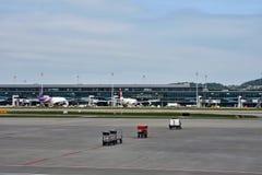 Éste es aeropuerto de Zurich Suiza imagenes de archivo