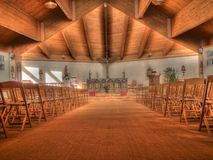 Éste es el interior de la iglesia   Imágenes de archivo libres de regalías