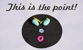¡Éste es el punto! fotografía de archivo