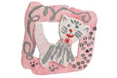 Gato de la arcilla Foto de archivo libre de regalías