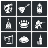 Éste es iconos del vector de Rusia fijados Foto de archivo libre de regalías