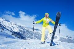 Éste es mi mejor esquí Fotos de archivo
