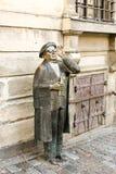 ÉSTOCOLMO, SUÉCIA - 3 de agosto de 2009 - monumento da rua Evert Taube, compositor sueco, escritor e ator, cidade velha Gamla de  fotografia de stock royalty free