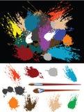 Éstos son splats coloridos ilustración del vector