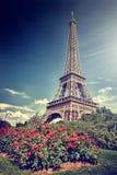 Été à Paris Tour Eiffel (image modifiée la tonalité) Photo stock