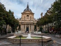 Été égalisant de la Sorbonne en place Photographie stock