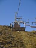 été alpestre de ski de ressource de télésièges Photos stock