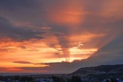Été ardent de coucher du soleil Photos libres de droits