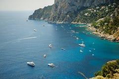 Belle île de mer de Capri Photos libres de droits