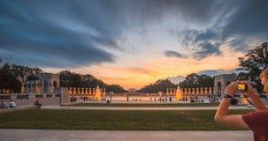 Été commémoratif de fontaine d'eau de Washington Monument View From WWII clips vidéos