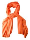 Été d'écharpe Écharpe multicolore Vue supérieure d'écharpe Écharpe orange Images libres de droits