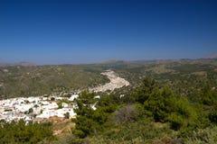 Été d'architecture de bâtiments historiques de Rhodos Grèce Image stock