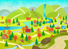 Été dans les montagnes Image libre de droits