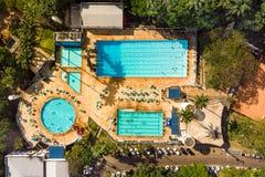 Été de jour de piscine photographie stock