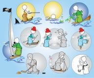 Été de l'hiver de reste de passe-temps de sport Photo stock