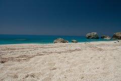 Été de la Grèce de plage de mer de Leucade Photo libre de droits