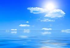 été de mer d'horizontal Image stock