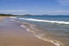 Été de mer de l'eau d'espace libre de sable de rivage de plage de paix Images libres de droits