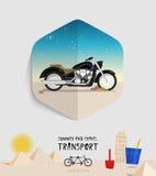 Été de vecteur et icône de transport de voyage plat Image stock