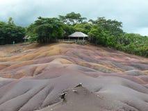 Été des Îles Maurice de terre de sept couleurs Photos stock
