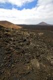 Été en pierre de colline de ciel de roche volcanique de volcanes photos libres de droits