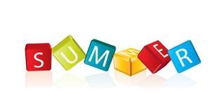 Été - lettres de cube Photo libre de droits