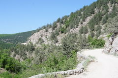 Été midi Montagnes Route Photo libre de droits