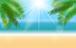 Été Sunny Natural Background Vector illustration de vecteur