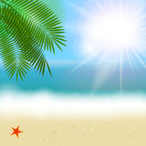 Été Sunny Natural Background Vector Images stock