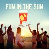 Été Sunny Vacation Concept d'amusement au soleil images stock