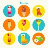Été tropical Juice Vector Icon Set Image libre de droits