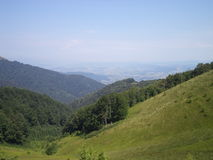 Étable de montagne carpathienne Photo stock