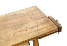 Établi en bois avec l'étau photos libres de droits