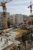 Établir une nouvelle maison à Moscou Photos libres de droits