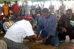 Établissement d'un chef habituel dans Burkina Faso Photographie stock