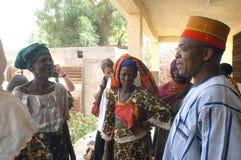 Établissement d'un chef habituel dans Burkina Faso Image libre de droits