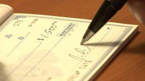 Établissement des chèques clips vidéos