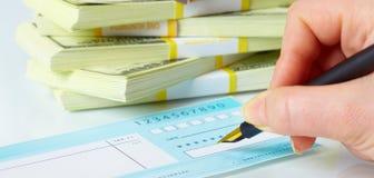 Établissement des chèques Photo libre de droits