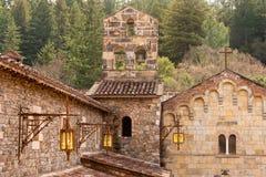 Établissement vinicole de château dans Napa Valley la Californie Images libres de droits